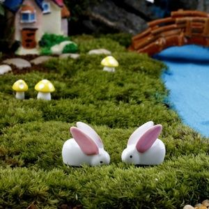 NWOT Lot of 5 White rabbit moss micro fairy garden